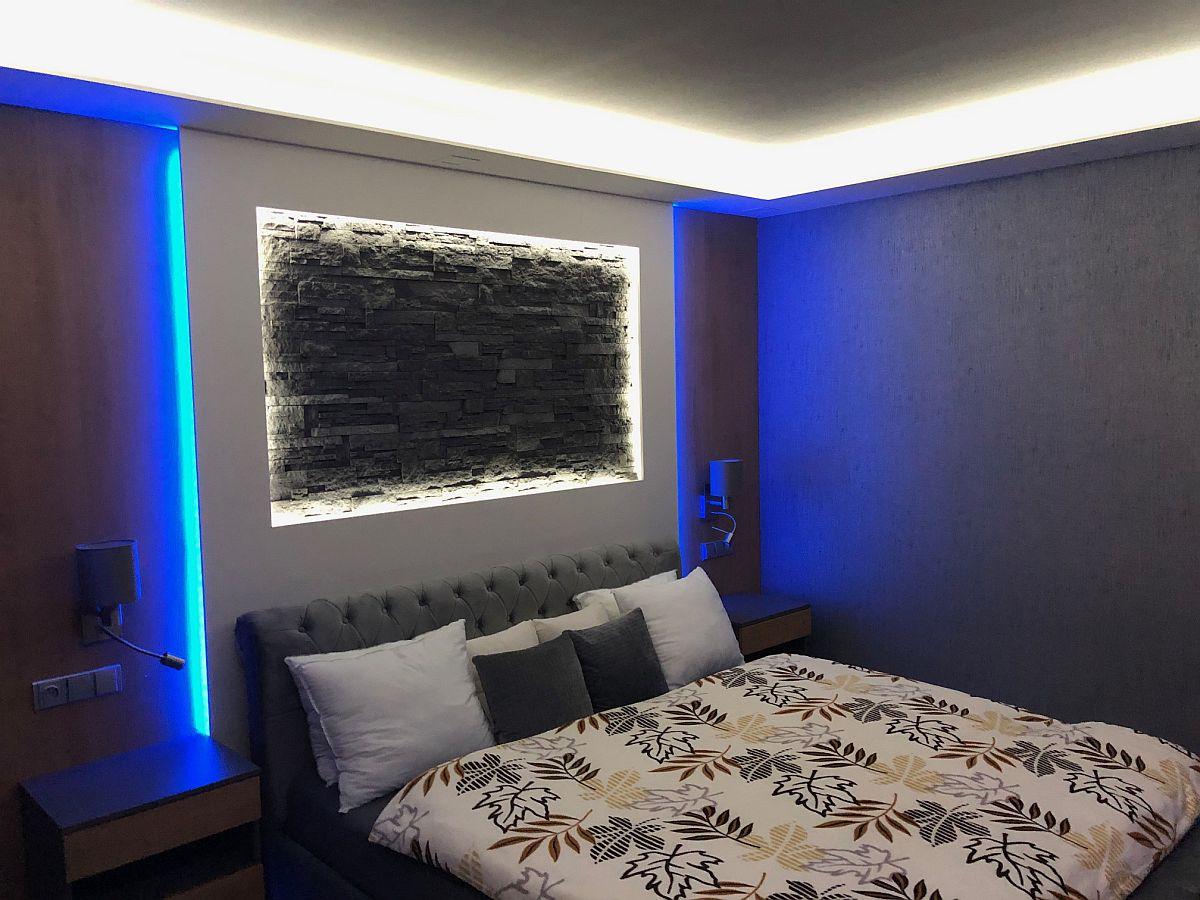 Byt 3kk - ložnice s nočním osvětlením