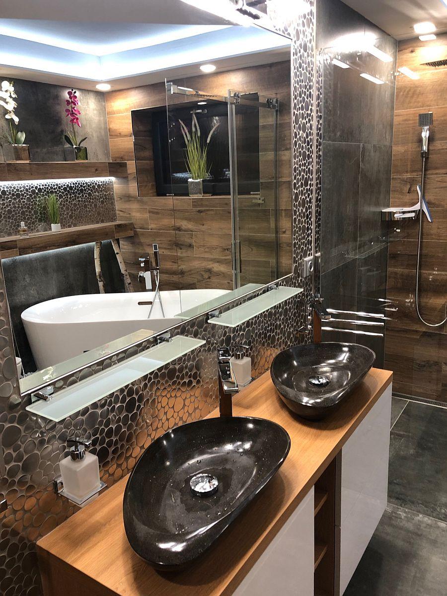 Byt 3kk - moderně zařízená koupelna