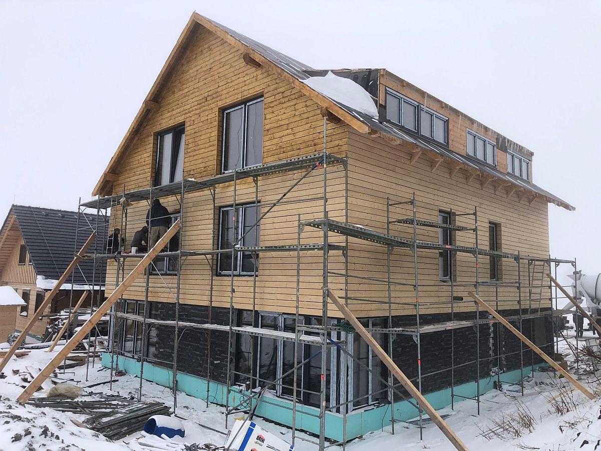 Dřevěné obložení domu