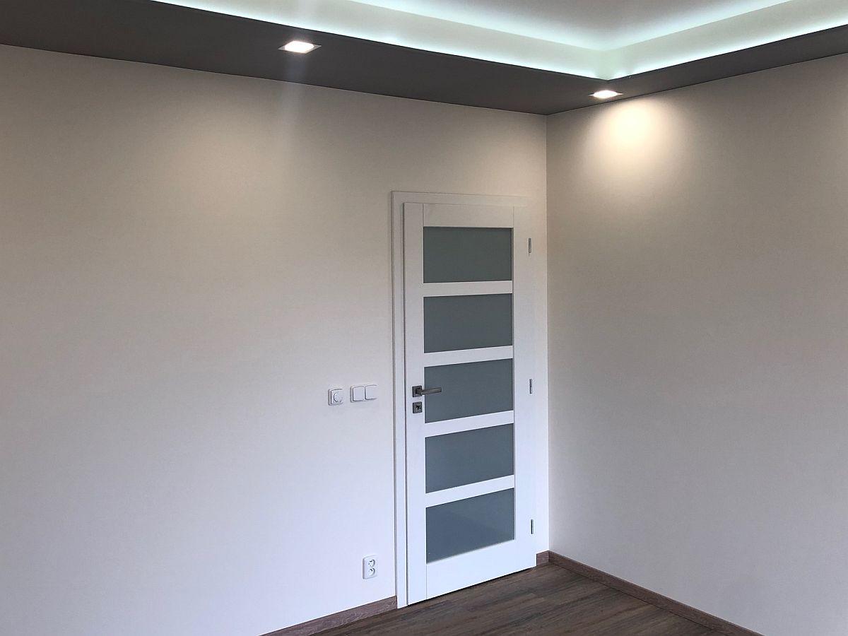 Konečná podoba bytu - pokoj se dveřmi