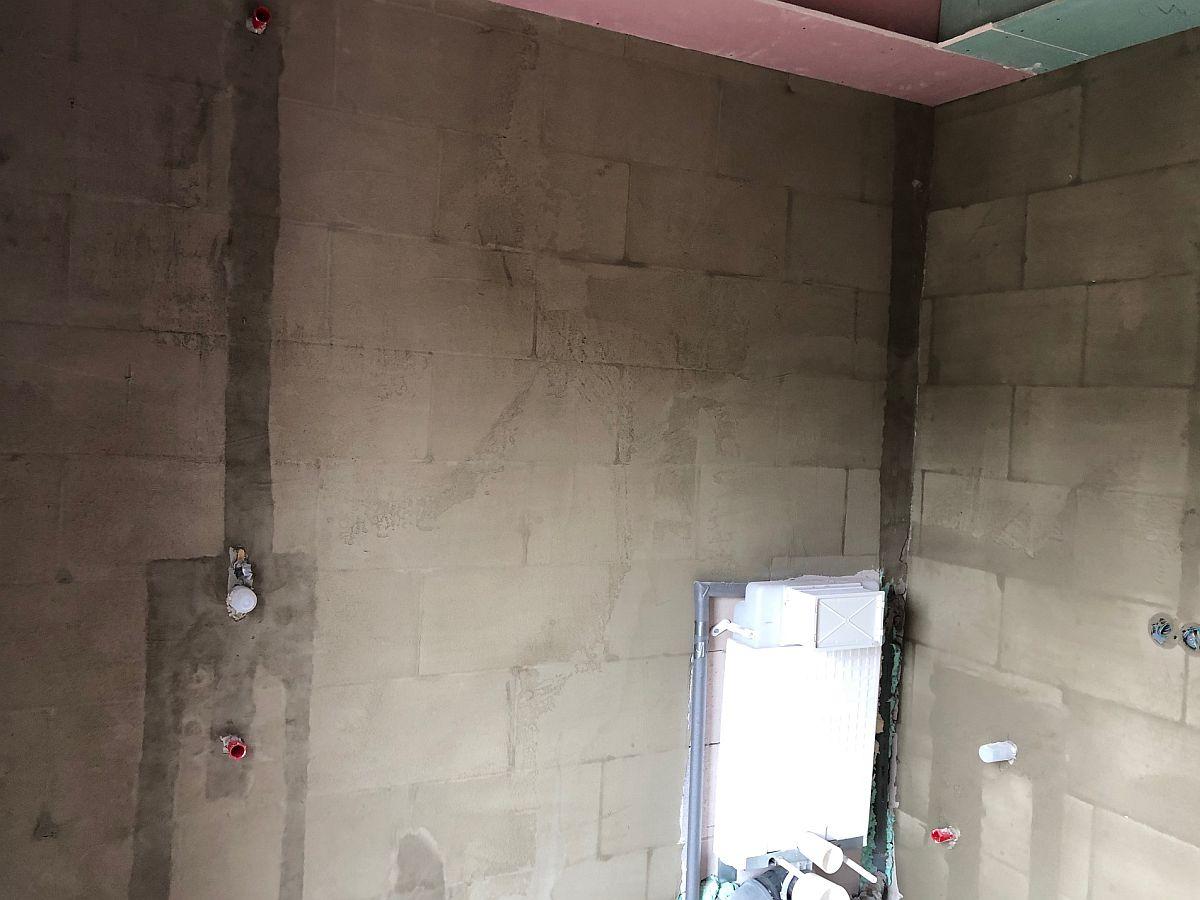 Koupelny připravené k obkládání