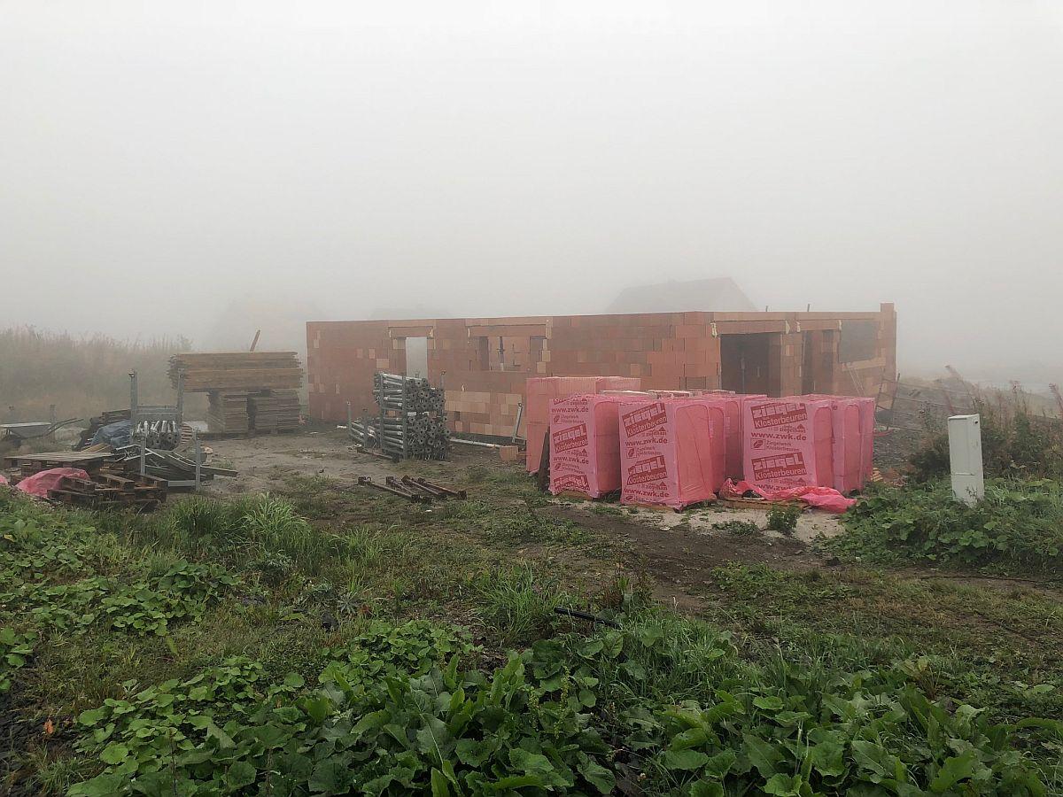 Stavba bytů na Božím Daru - září 2018
